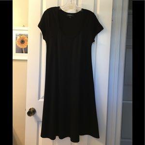 Black knit u-neck dress